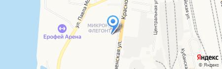 Виорд на карте Хабаровска