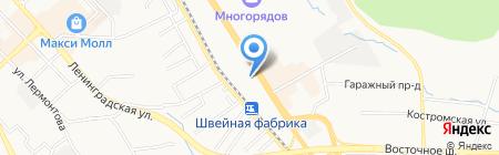 Магистр на карте Хабаровска