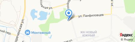 Автомойка на ул. Ворошилова на карте Хабаровска