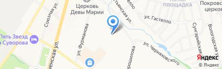 Средняя общеобразовательная школа №70 на карте Хабаровска