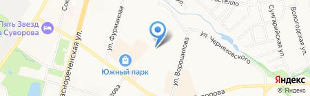 Жёлтые ворота на карте Хабаровска
