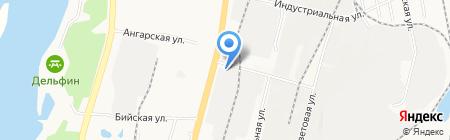 Хабаровский зерноперерабатывающий комбинат на карте Хабаровска