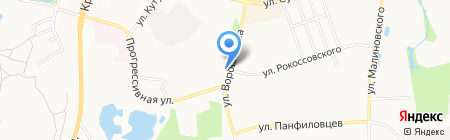Шиномонтажная мастерская на ул. Ворошилова на карте Хабаровска