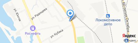 Небеса на карте Хабаровска