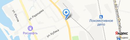 Магазин по продаже фастфудной продукции на Краснореченской на карте Хабаровска