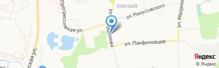 Маргаритка на карте Хабаровска