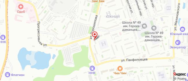 Карта расположения пункта доставки Хабаровск Ворошилова в городе Хабаровск