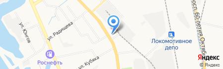 Белвест на карте Хабаровска