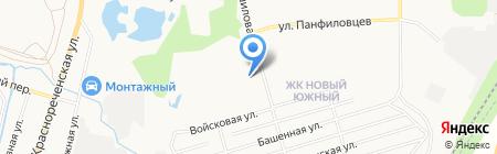 Сауна на ул. Ворошилова на карте Хабаровска