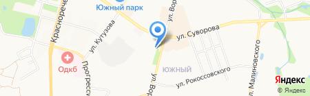 Софита на карте Хабаровска