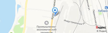 Зоомагазин на Краснореченской на карте Хабаровска