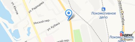 СП Амур на карте Хабаровска