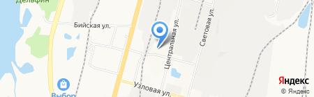 West на карте Хабаровска