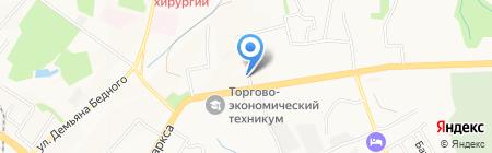 Боника на карте Хабаровска