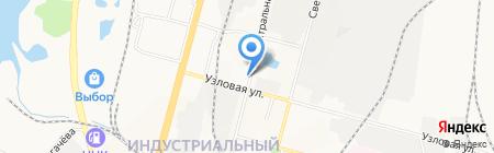 Витязь на карте Хабаровска