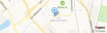Дружок на карте Хабаровска