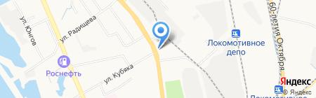 Амелия на карте Хабаровска