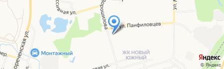 Колибри на карте Хабаровска