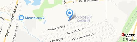 Хинган на карте Хабаровска