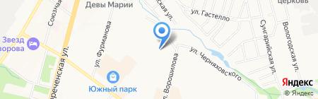 Детский сад №200 на карте Хабаровска