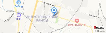 Марсей на карте Хабаровска