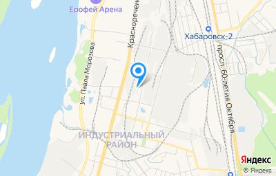 Местоположение на карте пункта техосмотра по адресу г Хабаровск, ул Краснореченская, д 90