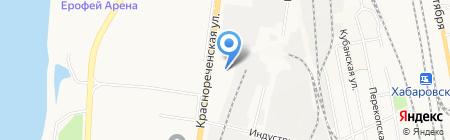 Жемчужная нить на карте Хабаровска
