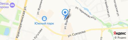 Ассет на карте Хабаровска
