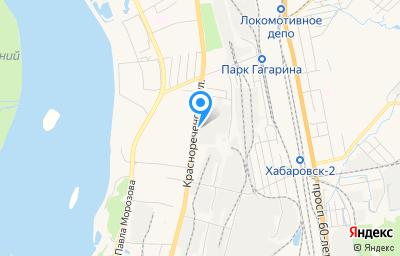 Местоположение на карте пункта техосмотра по адресу г Хабаровск, ул Краснореченская, д 94