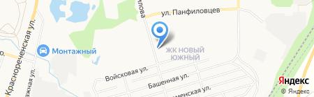 Народная парикмахерская на карте Хабаровска