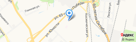 Брайт на карте Хабаровска