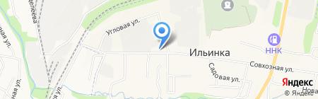Полесье на карте Ильинки