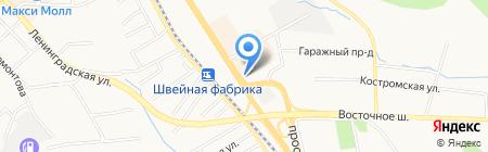 Кратон на карте Хабаровска