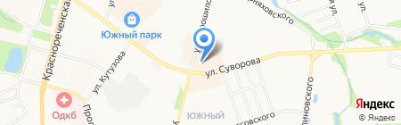 Кан на карте Хабаровска