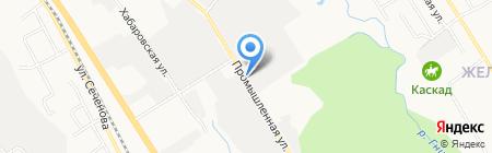Шиномонтажная мастерская на Промышленной на карте Хабаровска