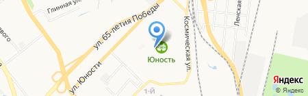 Юность на карте Хабаровска