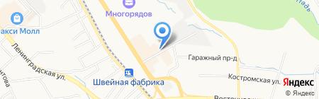 Нотариус Швиденко Т.Ю. на карте Хабаровска