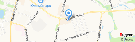 Солид Банк на карте Хабаровска
