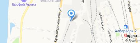 Санремо на карте Хабаровска