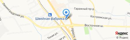 Кондитерская фабрика на карте Хабаровска