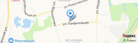 Автостоянка на ул. Панфиловцев на карте Хабаровска