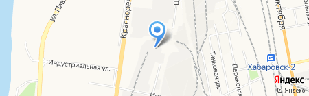 Шилка-Бэттэрис на карте Хабаровска