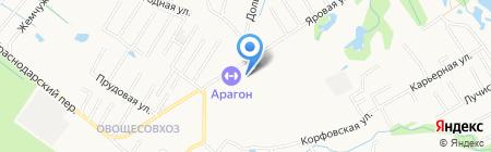 Арагон на карте Хабаровска