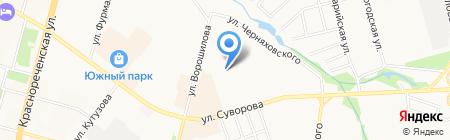 ХабЛяля на карте Хабаровска