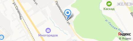 Обжора на карте Хабаровска