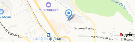 Невские двери на карте Хабаровска