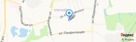 Искра на карте Хабаровска