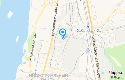 Местоположение на карте пункта техосмотра по адресу г Хабаровск, ул Индустриальная, д 8А