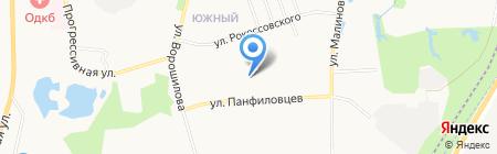 Зелёный сад на карте Хабаровска