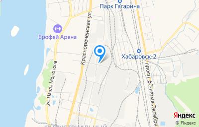 Местоположение на карте пункта техосмотра по адресу г Хабаровск, ул Индустриальная, д 9А